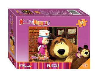Puzzle mini 54 Máša a Medvěd - Ušní prohlídka