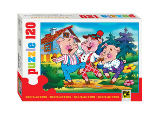 Puzzle 120 Pohádky - Tři prasátka