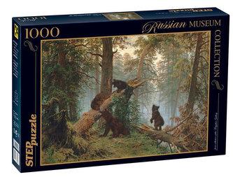 Puzzle 1000 Šiškin Ráno v borovicovém lese (ze sbírek ruských muzeí)