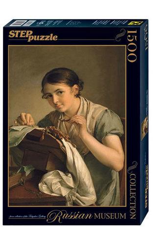 Puzzle 1500 Tropinin Krajkářka (ze sbírek ruských muzeí)