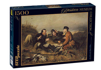 Puzzle 1500 Perov Odpočinek lovců (ze sbírek ruských muzeí)