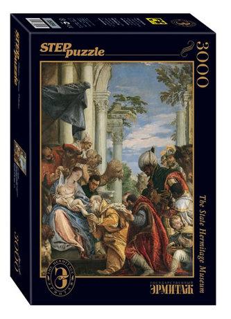 Puzzle 3000 Veronese Klanění tří králů (ze sbírek ruských muzeí)