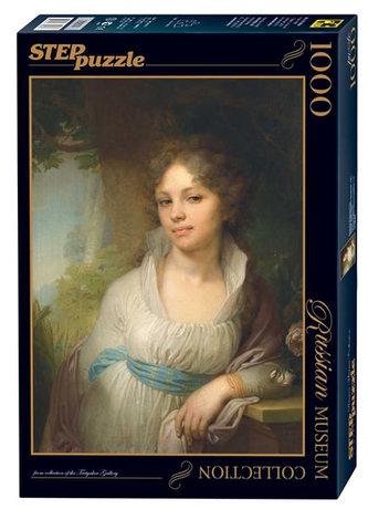 Puzzle 1000 Borovikovskij Portrét Marie Ivanovny Lopuchinové (ze sbírek ruských muzeí)