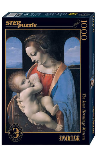 Puzzle 1000 Da Vinci Madona Litta (ze sbírek ruských muzeí)