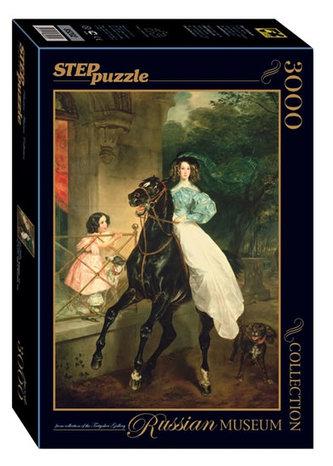 Puzzle 3000 Brjulov Jezdkyně (ze sbírek ruských muzeí)