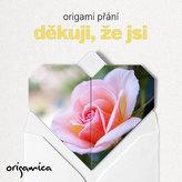Origami přání - Děkuji, že jsi