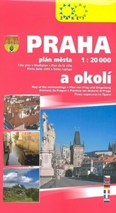 Praha a okolí 1:20 000 plán města