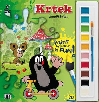 Krtek - Omalovánky s barvami A4 - neuveden