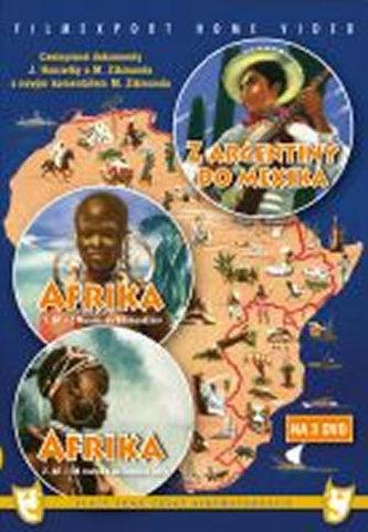 Afrika 1.+ 2. díl + Z Argentiny do Mexika - 3DVD box