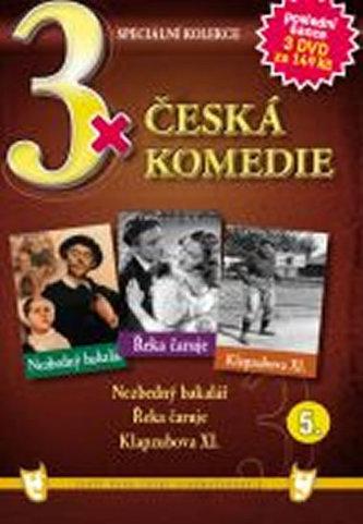 3x DVD - Česká komedie 5. - neuveden
