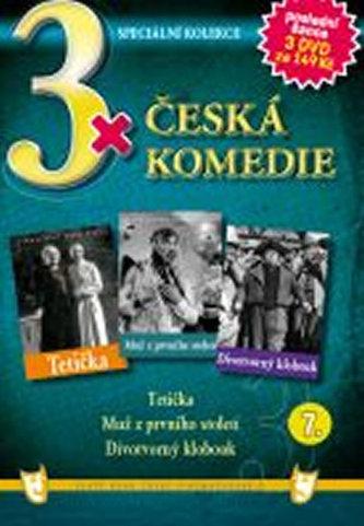 3x DVD - Česká komedie 7. - neuveden