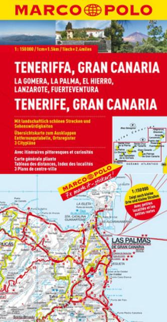 Marco Polo Karte Teneriffa, Gran Canaria. Tenerife, Gran Canaria