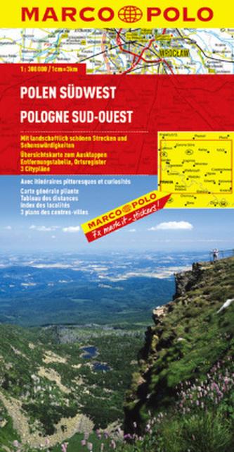 Polska Południowo-Zachodnia. Mapa Marco Polo w skali 1:300 000