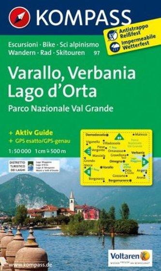 Kompass Karte Varallo, Verbania, Lago d'Orta