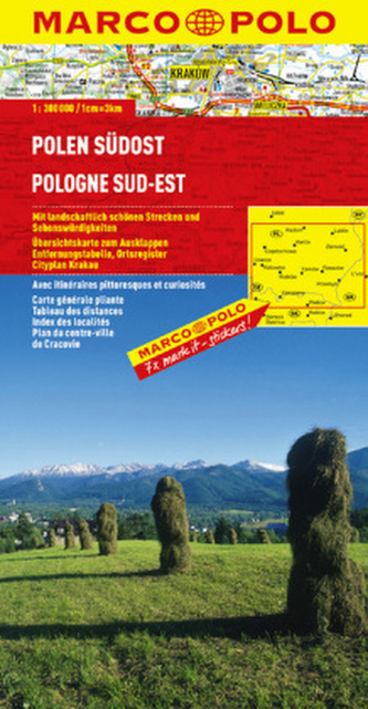 Marco Polo Karte Polen Südost. Pologne Sud-Est. Polska  Poludniowo-Wschodnia. Poland South East