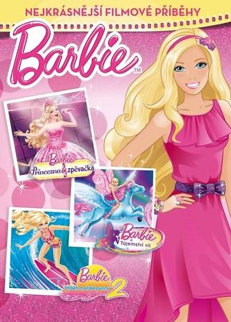 Barbie - Nejkrásnější filmové příběhy (Princezna a zpěvačka, Tajemství víl a Příběh mořské panny 2)