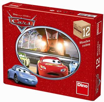 Auta - obrázkové kostky 12 ks
