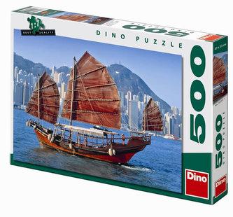 Čínská plachetnice - puzzle 500 dílků