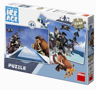 Doba Ledová 4 - puzzle 2 motivy v balení 2x48 dílků - neuveden