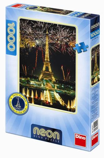 Eiffelova věž - puzzle neon 1000 dílků