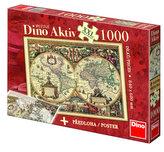 Historická Mapa - puzzle  XXL 500 dílků
