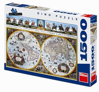 Historická mapa - puzzle 1500 dílků