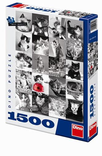 Kočky - puzzle 1500 dílků