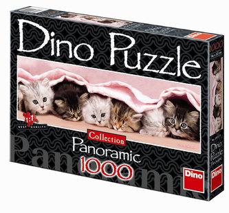 Koťátka - puzzle Panoramic 1000 dílků