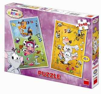 Krkouni - puzzle 2 motivy v balení 2x48 dílků