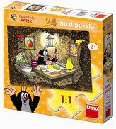 Krteček maluje - Maxi puzzle 24 dílků