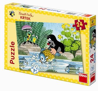 Krtek a rybka puzzle 24 dílků