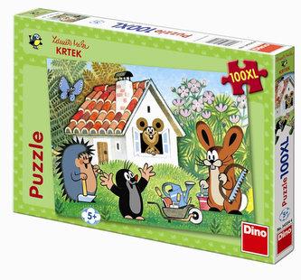 Krtek stavitel - puzzle XL 100 dílků
