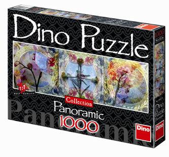 Květinové okouzlení - puzzle Panoramic 1000 dílků