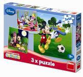 Mickey Mouse - puzzle 3 motivy v balení 3x55 dílků