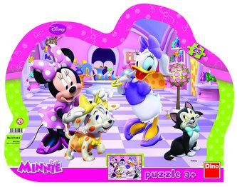 Dino Toys - Minnie & Mazlíčci - tvarované puzzle 25 dílků