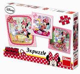 Minnie na návštěvě - puzzle 3 motivy v balení 3x55 dílků