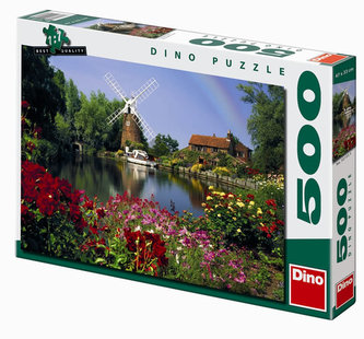 Mlýn u Ant River - puzzle 500 dílků