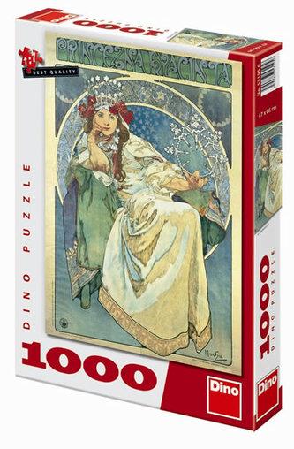 Mucha: Princezna Hyacinta - puzzle 1000 dílků