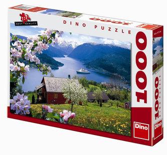 Norský fjord - puzzle 1000 dílků