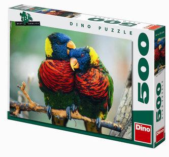 Papoušci - puzzle 500 dílků