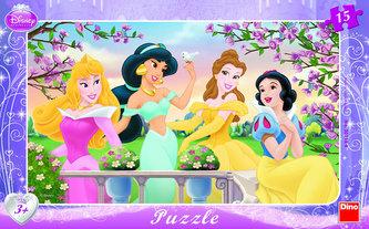 Princezny - rámové puzzle 15 dílků