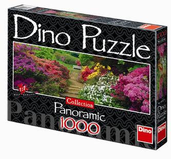 Rozkvetlá zahrada - puzzle Panoramic 1000 dílků
