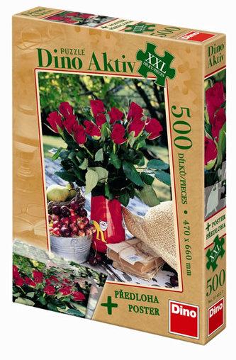 Růže - puzzle XXL 500 dílků