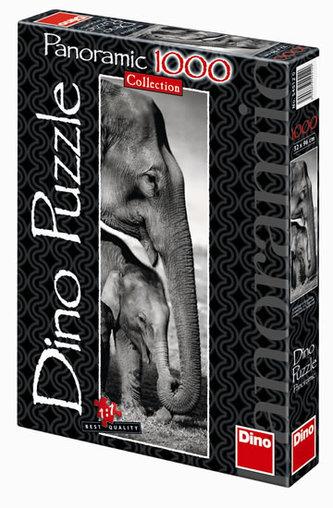Sloni - puzzle Panoramic 1000 dílků