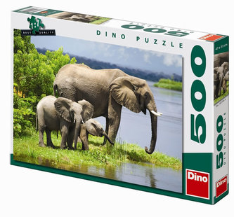 Sloní rodinka - puzzle 500 dílků