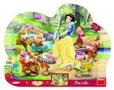 Sněhurka - tvarované puzzle 25 dílků