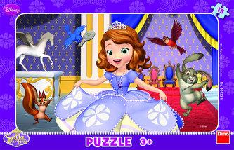 Sofia První - rámové puzzle 15 dílků