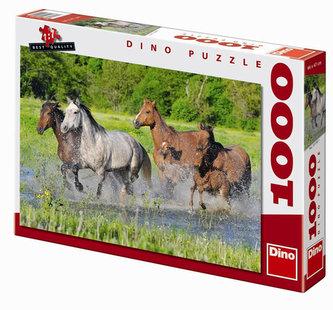 Stádo koní - puzzle 1000 dílků