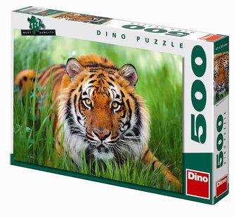 Tygr v trávě - puzzle 500 dílků