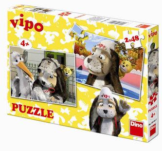Vipo v Evropě - puzzle 2 motivy v balení 2x48 dílků - neuveden
